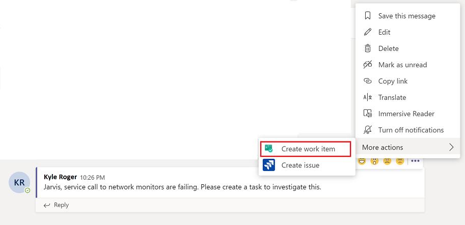 Create Work item