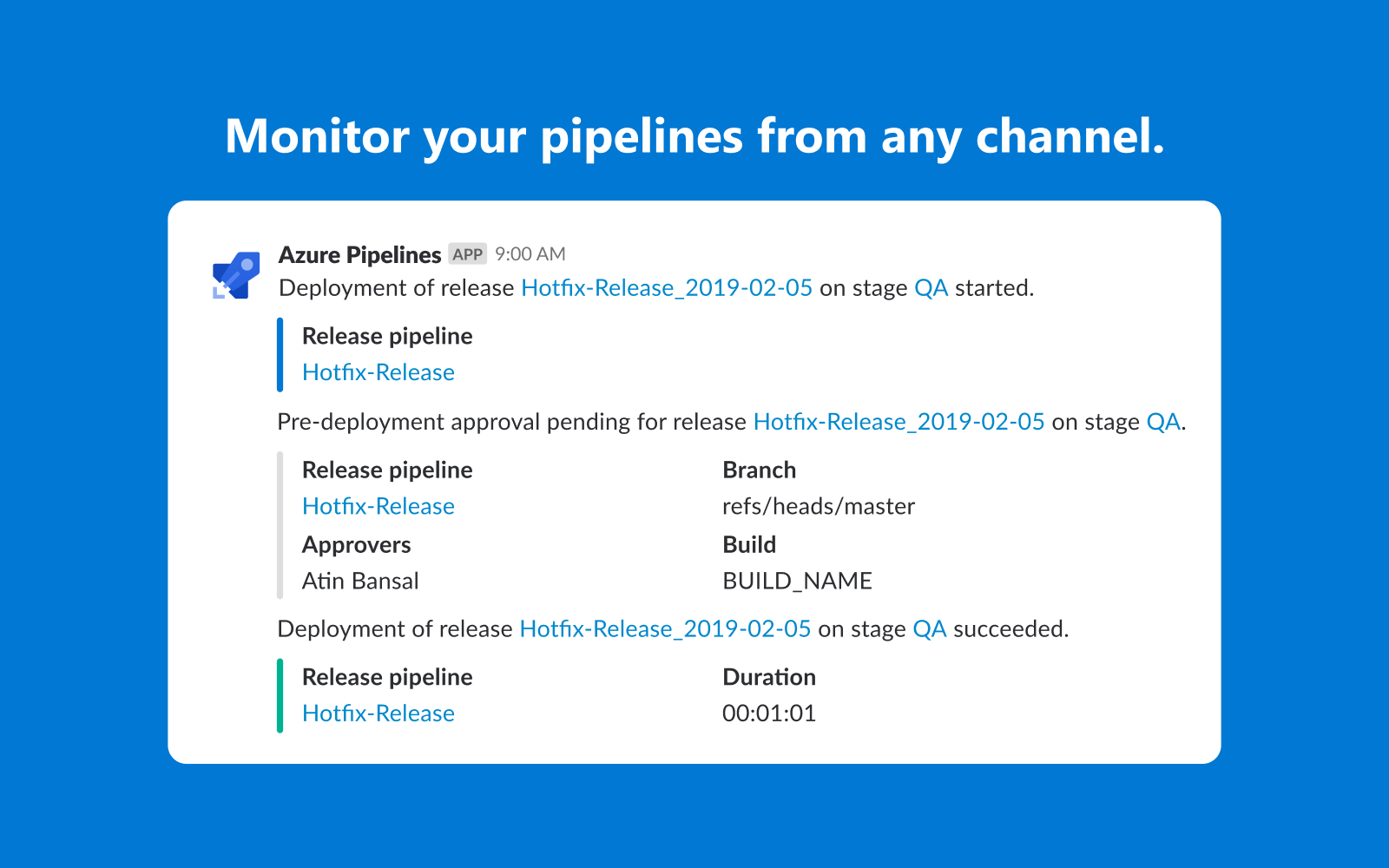 Monitor your pipelines